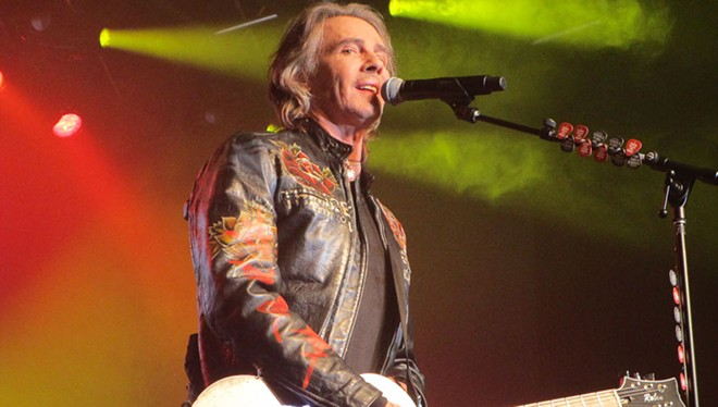 Rick Springfield in Airway Heights Tuesday. - DAN NAILEN