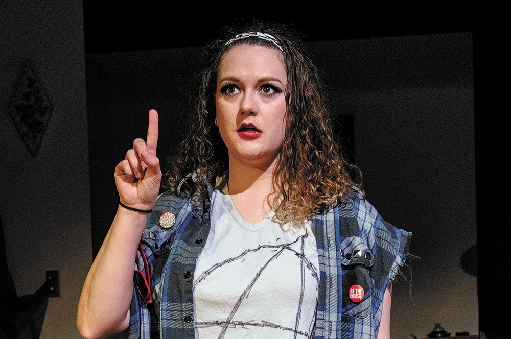 Katie Pease as Reagan-era Zillah. - ERICK DOXEY PHOTO