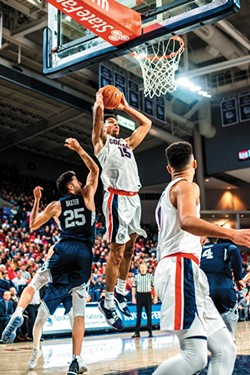 Brandon Clarke's breakout season continues. - DAWSON REYNIER PHOTO