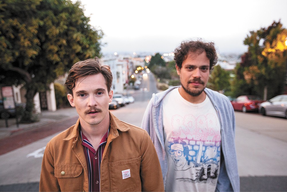 Chris Farren (left) and Jeff Rosenstock are Antarctigo Vespucci, DIY punks making sincere power-pop. - ANDY DESANTIS PHOTO