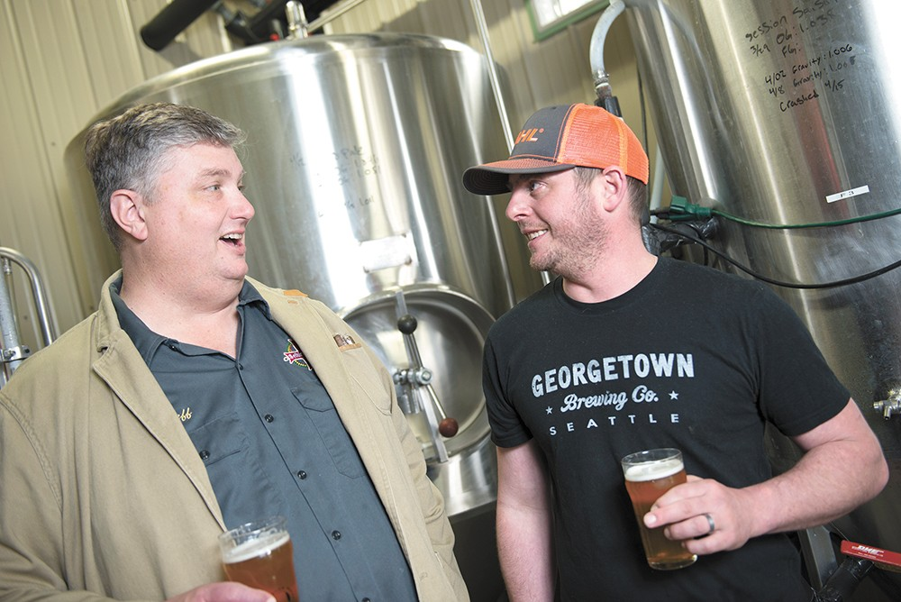 Michael DeTar and Jeff Whitman of Selkirk Abbey are preparing to merge their two breweries to form Devotion Brewing. - DEREK HARRISON PHOTO