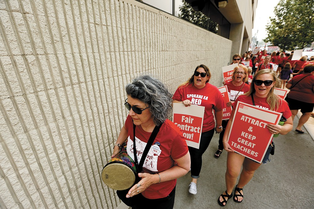 Spokane teachers earned huge raises last summer. Months later, many were told they'd be laid off. - YOUNG KWAK