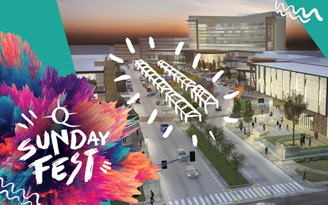 An artist's rendering of where the Quest Sunday Fest will take place this summer, starting July 14. - NORTHERN QUEST