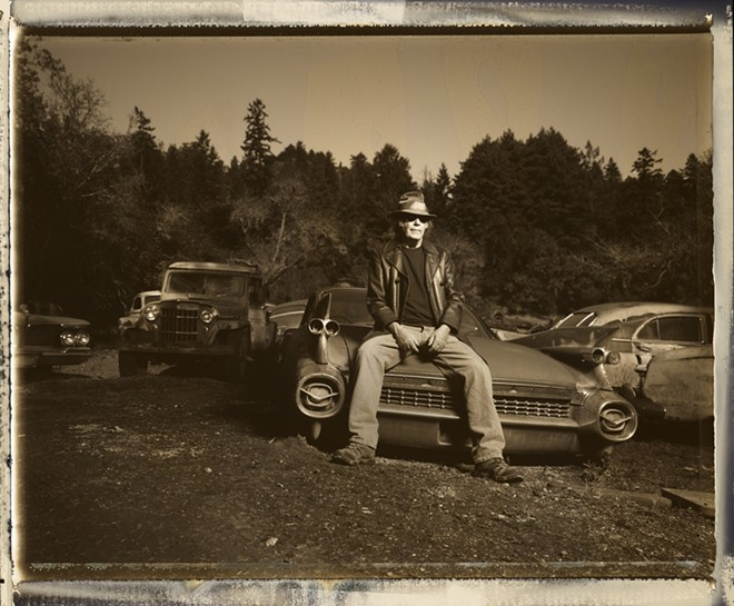 Neil Young performs all by his lonesome at the Fox Theater on May 18. - DANNY CLINCH