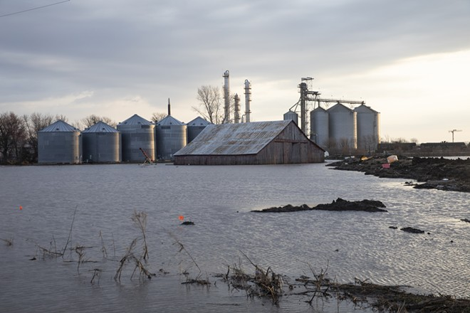 Flooding in Craig, Mo., March 27, 2019. The House on Friday again approved a massive emergency relief bill for farmers and communities hit by hurricanes, wildfires, floods and other natural disasters, escalating a standoff with President Donald Trump, who has resisted more aid to Puerto Rico and demanded additional money for immigration enforcement. - TIM GRUBER/THE NEW YORK TIMES