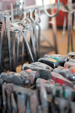 Tools of the blacksmithing trade. - CARRIE SCOZZARO PHOTO
