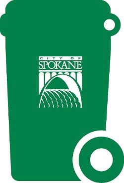 Spokane's residential garbage customers with a green bin can compost all food scraps and even some food-soiled paper products.