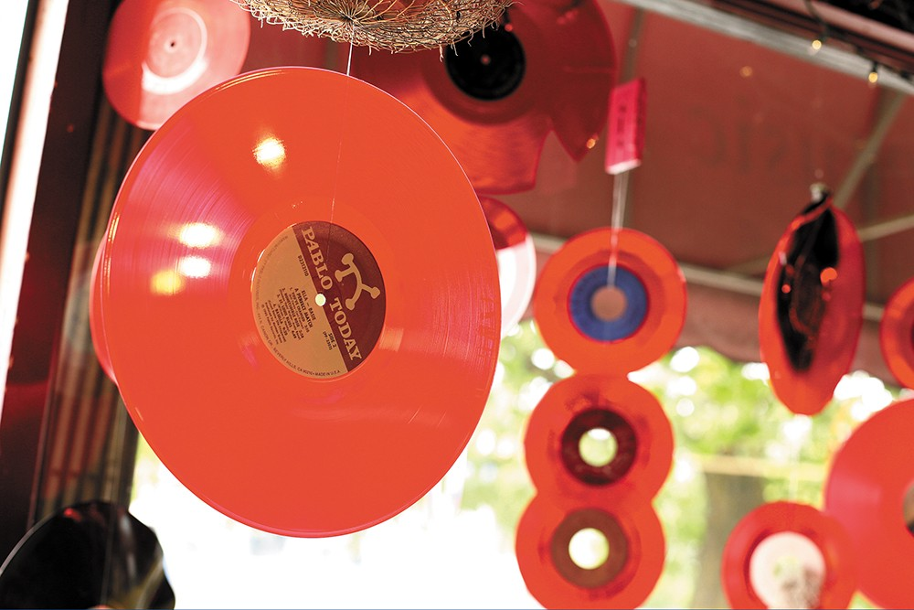 Vinyl decorations at Resurrection Records. - YOUNG KWAK PHOTO