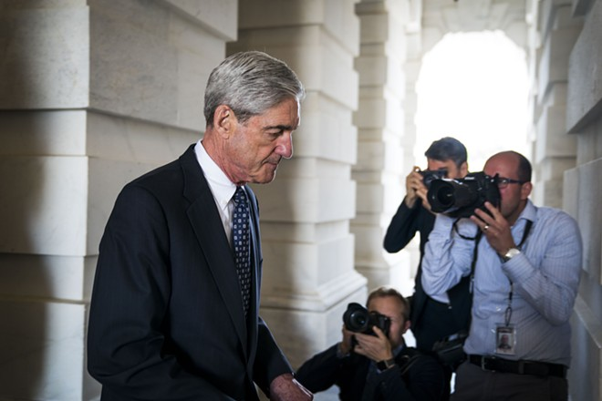 Robert Mueller, the former FBI director and special counsel leading the Russia investigation, leaves the Capitol in Washington, June 21, 2017. - DOUG MILLS/THE NEW YORK TIMES