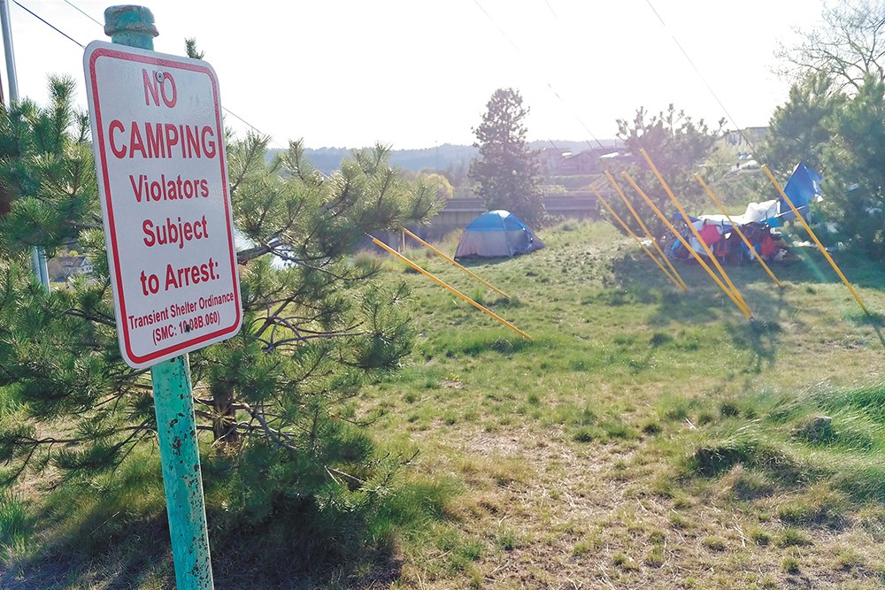 The city's new policy regarding homeless camps took effect May 1. - DANIEL WALTERS PHOTO