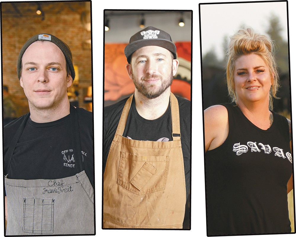 FROM LEFT: Travis Tveit, Travis Dickinson and Molly Patrick will be cooking at the Crave! food festival July 11-13.