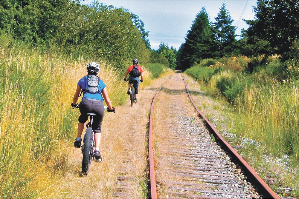 You'll probably want fat tires for the 130-mile-long Columbia Plateau Trail.