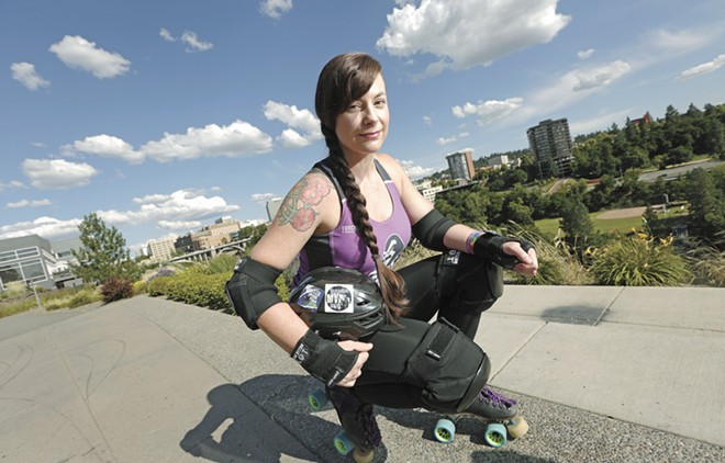 "Jada Bellrose says combining roller derby and her faith has been ""empowering and exciting."" - YOUNG KWAK PHOTO"