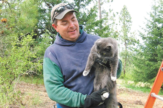 Another successful feline rescue for Jim Thoen. - RESCUE NORTHWEST PHOTO