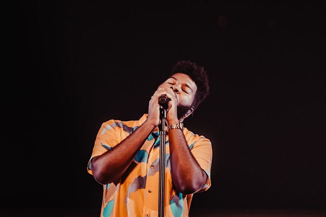 Khalid at the Spokane Arena on Tuesday, July 9. - ALICIA HAUFF PHOTO