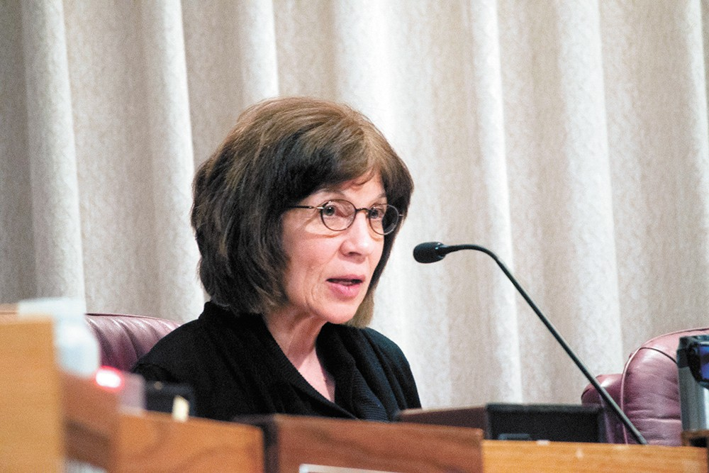 Public safety and homelessness have emerged as top issues in Lori Kinnear's re-election bid. - DANIEL WALTERS PHOTO