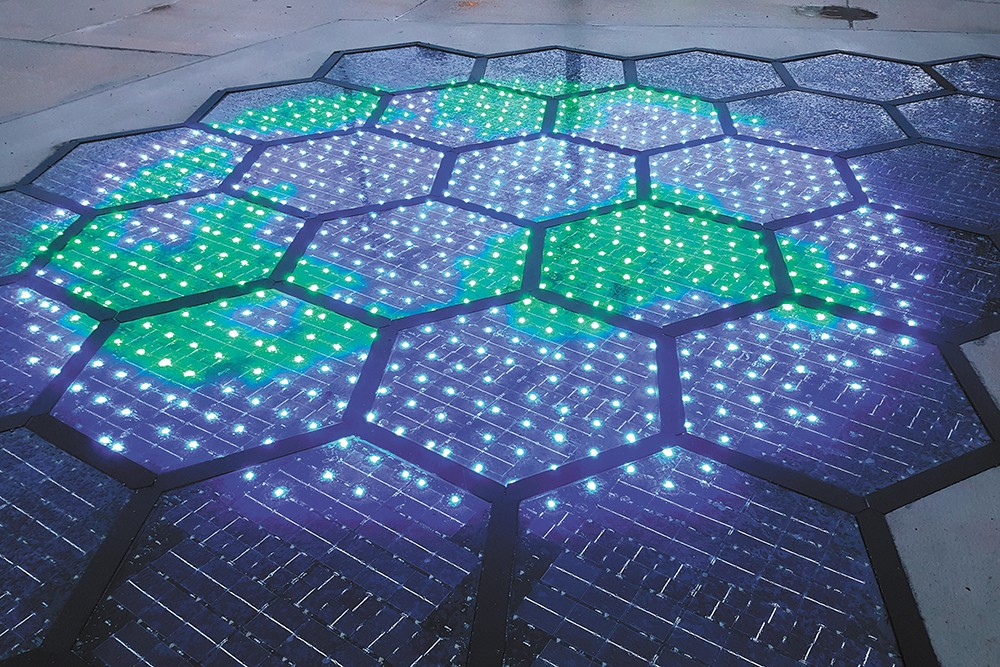 Solar Roadways, based in Sandpoint, aims to literally pave the way to a clean energy future using solar panels like those shown here. 