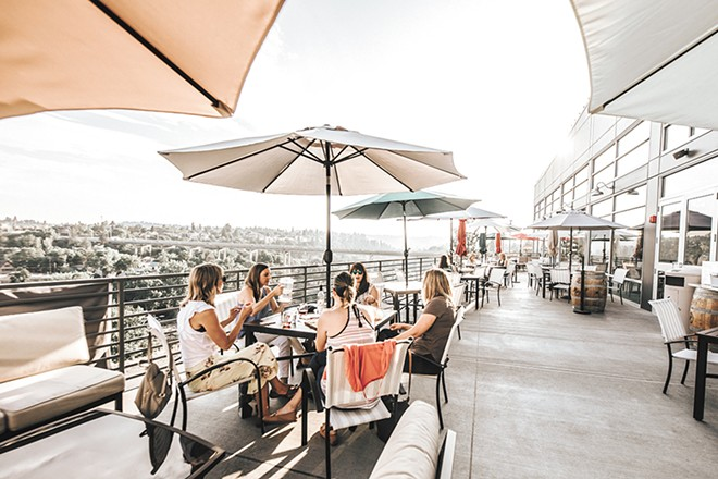 Nothing beats a patio in summer, like Maryhill's overlooking the Spokane River. - ALICIA HAUFF PHOTO