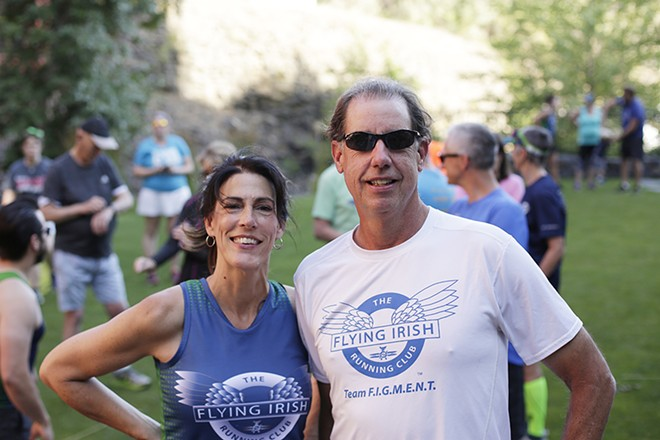 Donna Drake and Jim Palm joined the board of the Flying Irish Running Club after finding inspiration and friendship during the club's Thursday runs, which depart from Chateau Rive in Spokane. - YOUNG KWAK PHOTO