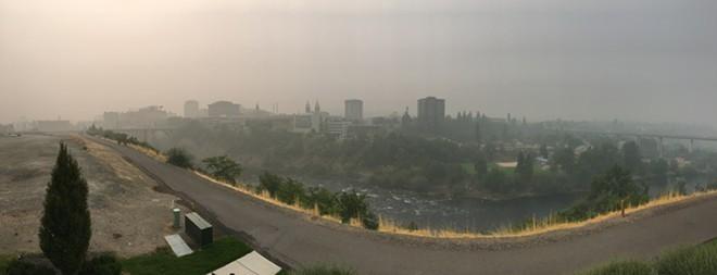 Smoke in Spokane in August 2018 - SAMANTHA WOHLFEIL PHOTO