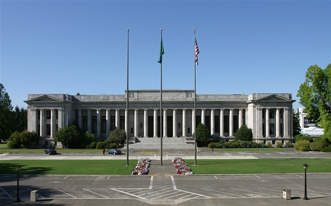 The Washington State Supreme Court building. - WIKIMEDIA COMMONS, CACAPHONY
