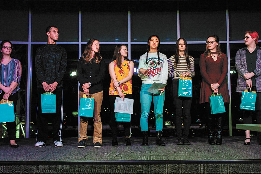 More than 1,000 Mead students participated in Poetry Out Loud last year. - KEELIN ELIZABETH PHOTO