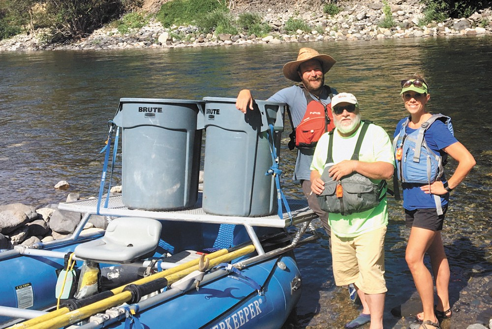 The Spokane Riverkeeper partnered with Spokane Neighborhood Action Partners (SNAP) and Frontier Behavioral Health to do homeless outreach along the river. - SNAP PHOTO