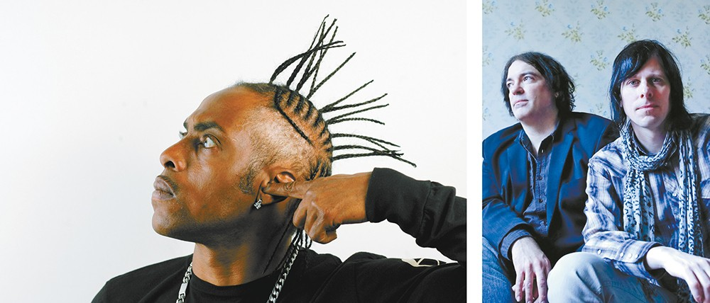 Rapper Coolio (left) and power-pop duo the Posies are amongst this year's stellar Pig Out headliners.
