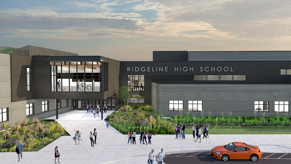 Rendering of the future Ridgeline High School.