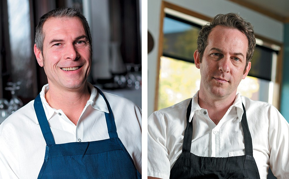 Local chefs Laurent Zirotti (left) and Tony Brown both got their Food Network close-ups recently. - YOUNG KWAK PHOTOS