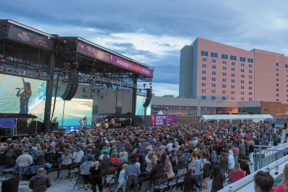 Northern Quest's updated summer concert venue (above), and its Kids Quest (middle) and Cottages (below) represent a $20 million investment.