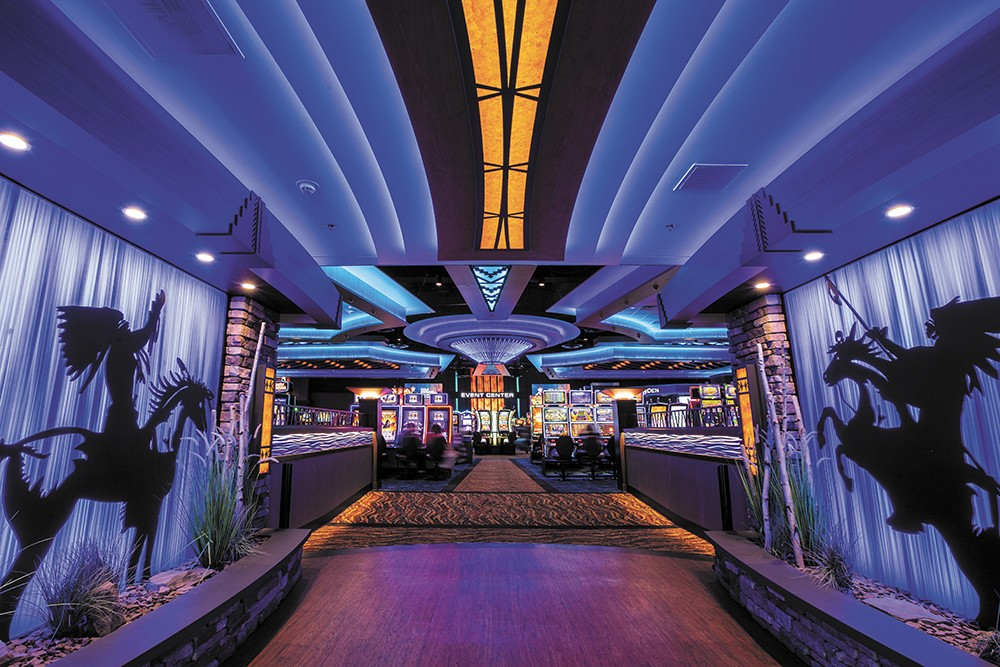 Coeur d'Alene Casino's remodeled gaming space.