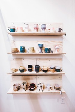 Many mugs at From Here inside River Park Square. - ALICIA HAUFF PHOTO