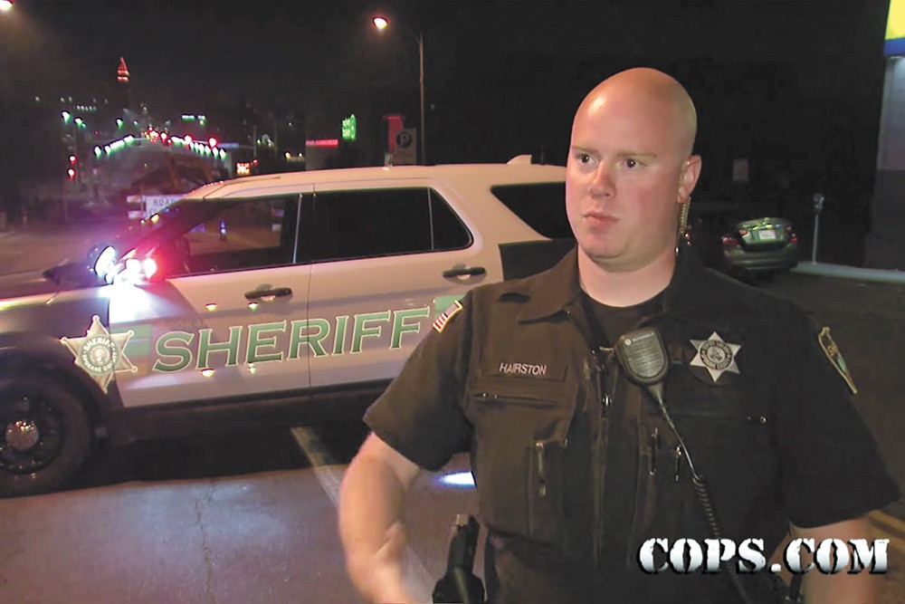Spokane County Sheriff's Deputy Andrew Hairston was featured on COPS.