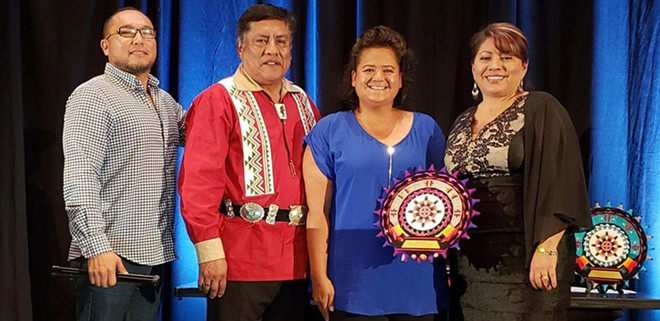 Pictured left to right: Quanah Matheson (CDA Casino), Emerson Vallo (American Indian Alaska Native Tourism Association Board of Directors President), Dee Dee McGowan (CDA Casino), and Sherry Rupert (AIANTA Executive Director). - CDA CASINO