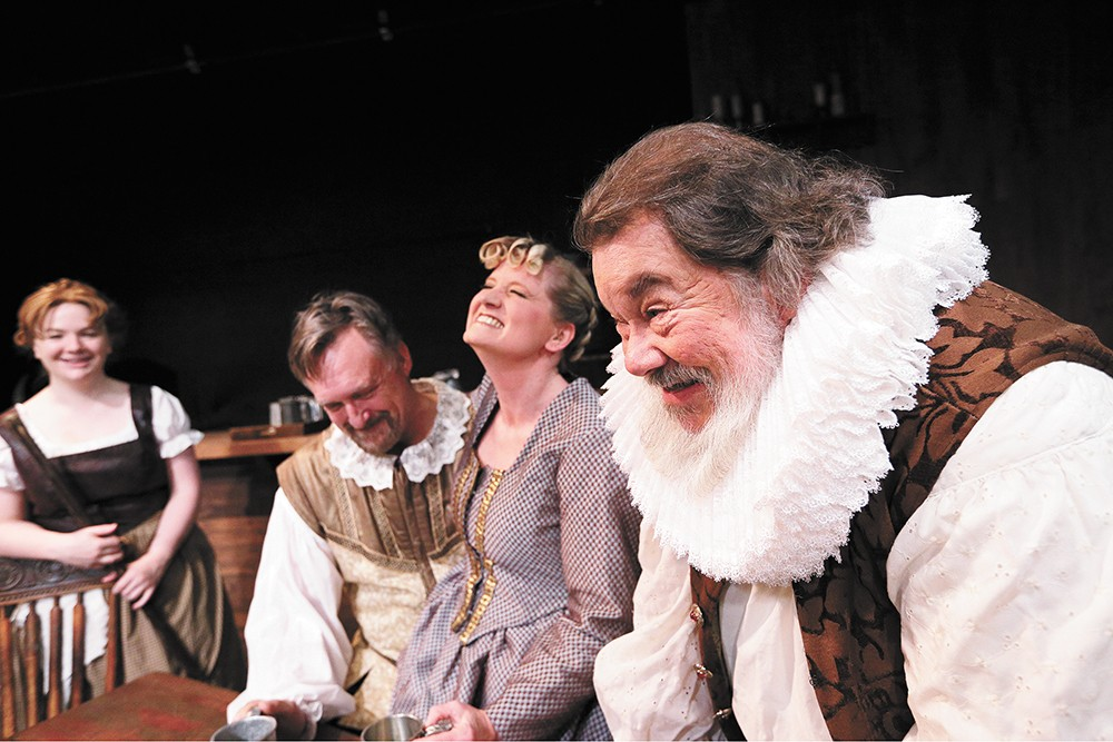 Bill Marlowe as Ben Jonson (right), considered England's first poet laureate. - YOUNG KWAK PHOTO
