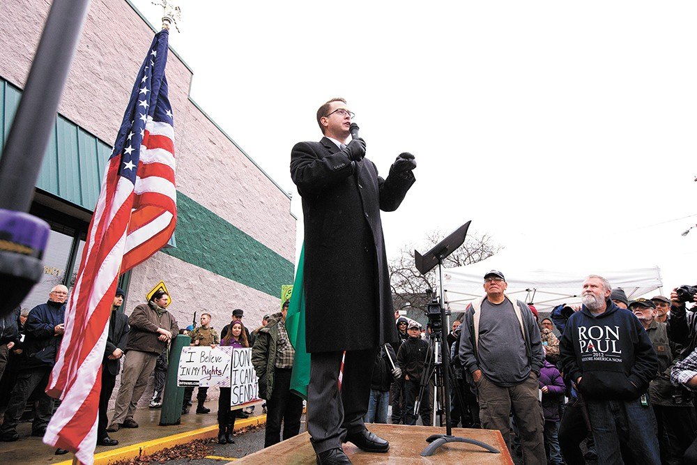 Spokane Valley Rep. Matt Shea, pictured in 2014. He's currently under investigation to determine if he's ever promoted political violence. - YOUNG KWAK PHOTO