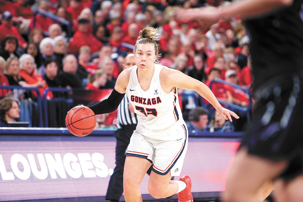 Jill Townsend's scrappy leadership should be valuable this season. - GONZAGA UNIVERSITY ATHLETICS PHOTO