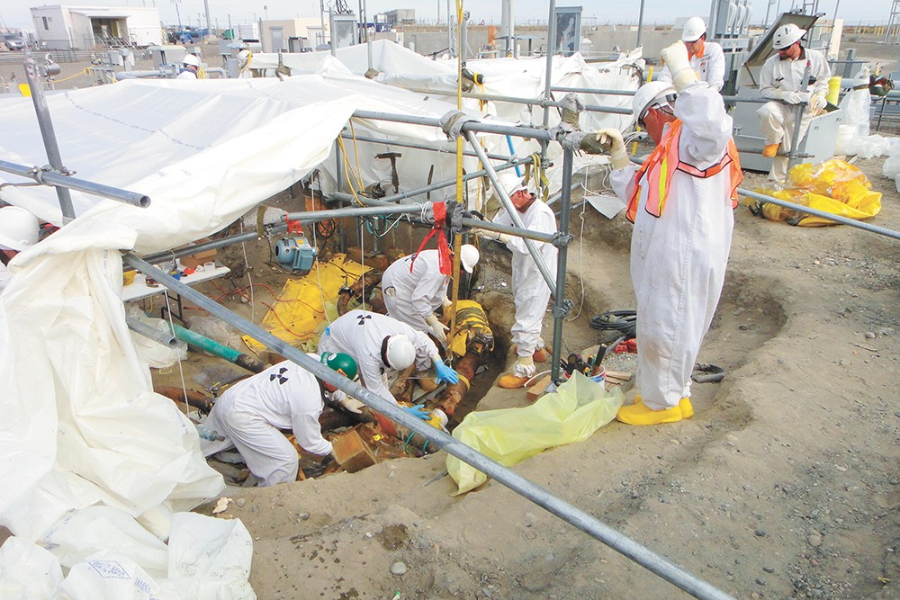 Workers during a waste removal project at Hanford in 2010. - COURTESY OF U.S. DEPARTMENT OF ENERGY