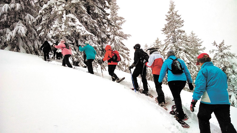 You can learn to snowshoe with one of the many events offered around the region.