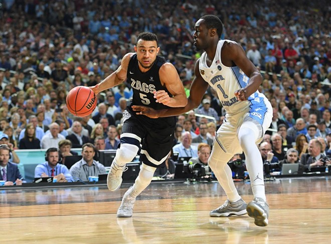 Gonzaga faced off against North Carolina in the 2017 national championship game. Now the Tarheels are coming to Spokane. - GONZAGA ATHLETICS