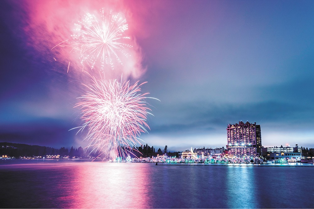 Come for Coeur d'Alene's tree lighting — stay for the fireworks! - COEUR D'ALENE RESORT PHOTO