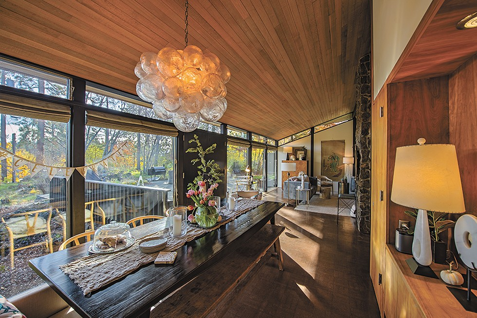"""Spokane designer Tammie Ladd was drawn to the wide expanse of floor to ceiling windows in her home, which she says was designed by """"one of Spokane's greats in the mid-century era,"""" architect John McGough.