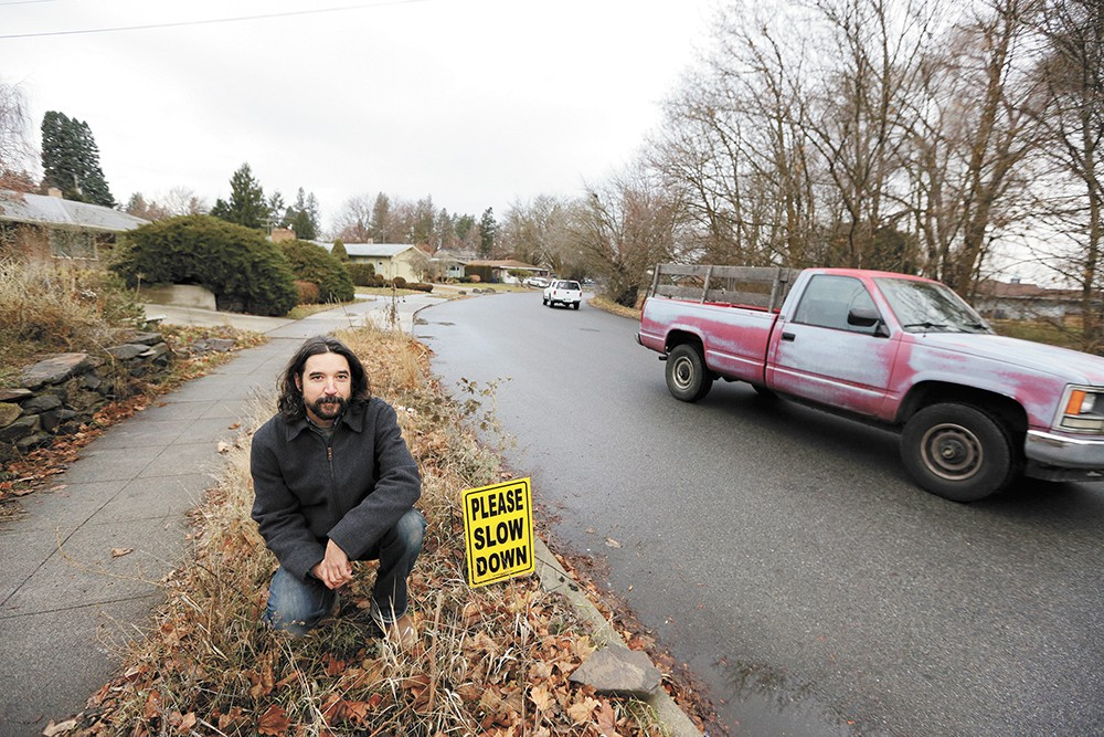 Patrick McKann has been working with his neighbors to ask the city for help slowing down traffic in Lincoln Heights. - YOUNG KWAK