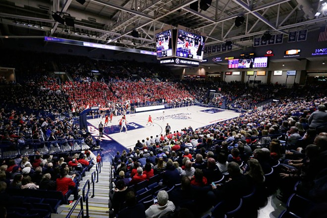 The Kennel is hosting arguably its biggest game ever when North Carolina comes to Spokane Wednesday. - YOUNG KWAK