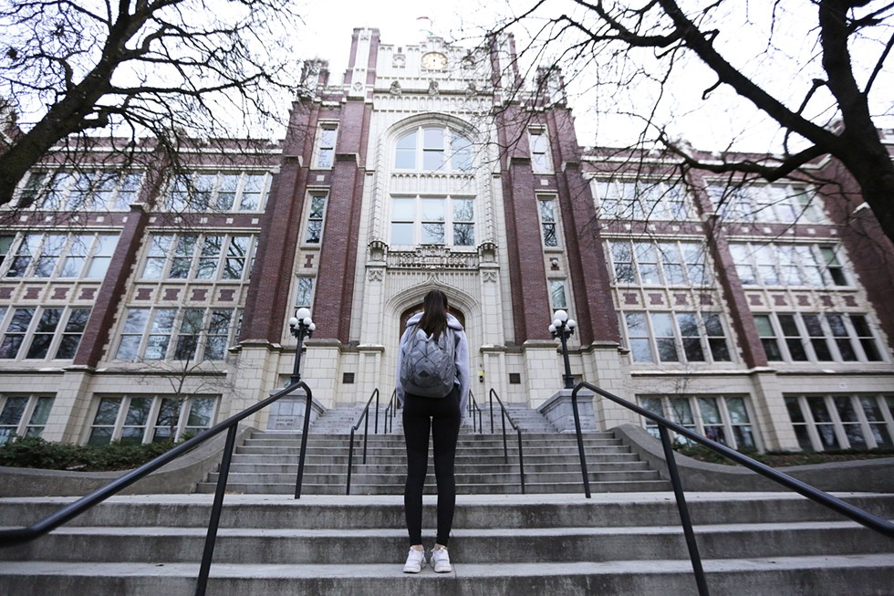 In April, we wrote about how threats on social media paralyzed Spokane's Lewis & Clark High School and left one particular girl in terror. - YOUNG KWAK PHOTO