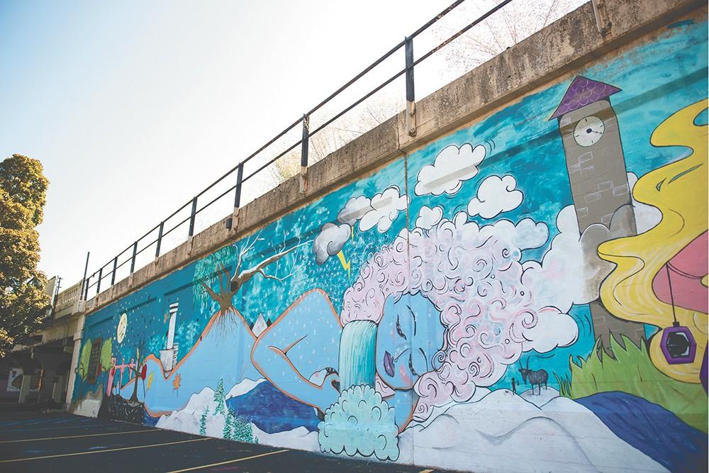 Shelby Allison and Susan Webber's Stevens Street mural. - DEREK HARRISON PHOTO