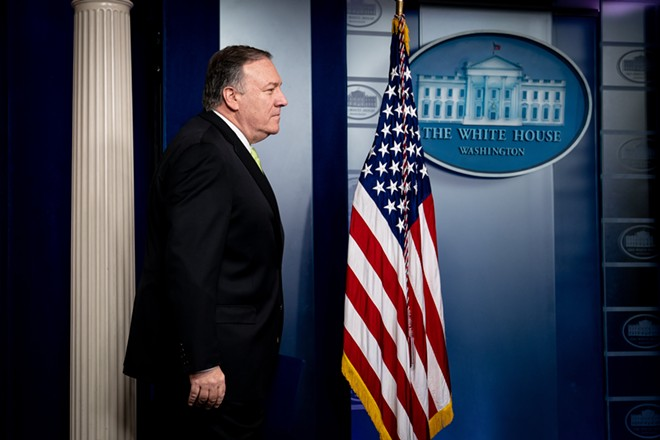 Secretary of State Mike Pompeo approaches the lectern in the White House briefing room in Washington on Friday, Jan. 10, 2020. - ERIN SCHAFF/THE NEW YORK TIMES