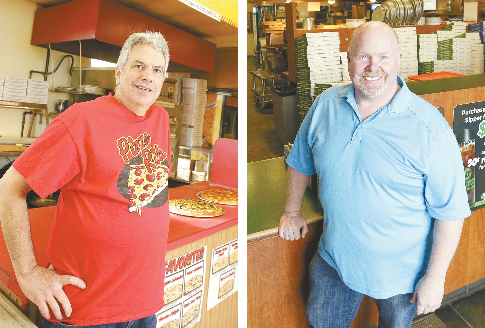 Pizza Rita founder Brian Dickmann (left) and Pizza Pipeline co-owner Mike Kight. - YOUNG KWAK PHOTOS