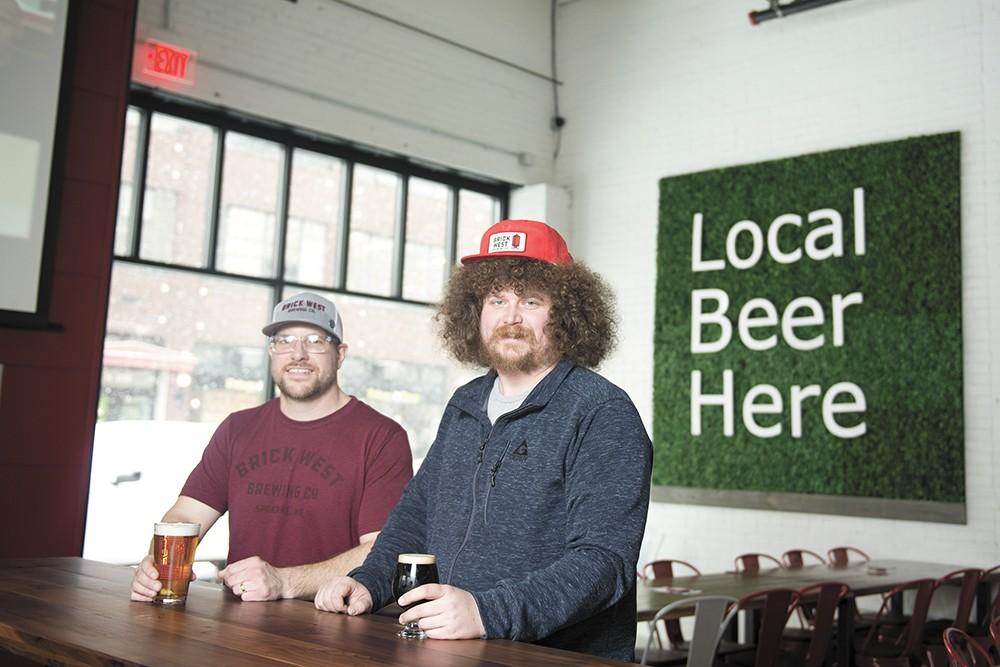 Head brewer Sam Milne (left) and general manager Brian Carpenter. - DEREK HARRISON PHOTO